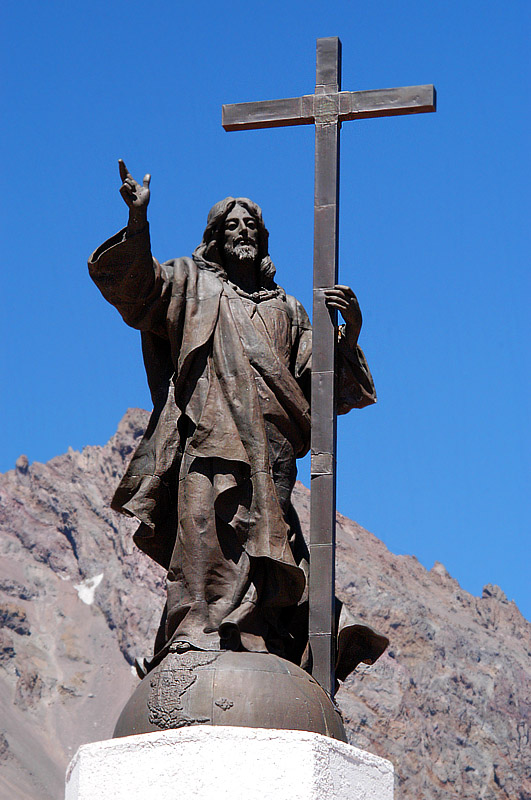 The statue of Christ erected after peace was established between Argentina and Chile