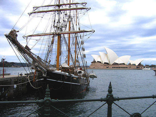 Ship in Sydney Harbour
